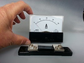 KSAAM-40 40Amp DC Panel Meter with Shunt