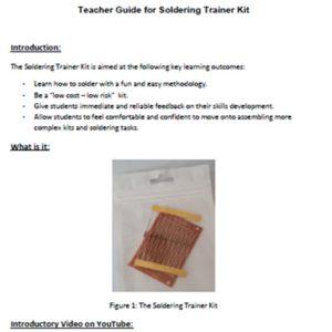PDFT-Soldering Trainer Teacher Guide