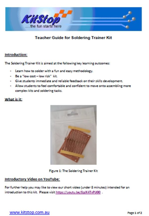 PDFT-Soldering Trainer Teacher Guide